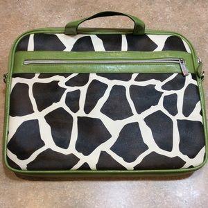 SWISS MOBILITY GIRAFFE PRINT LAPTOP BAG